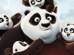 Po rodeado de los de su especie en el cartel oficial de Kung Fu Panda 3