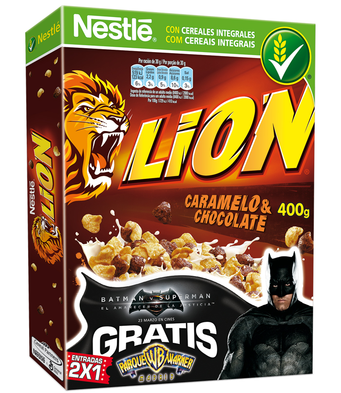 Entradas 2x1 para Parque Warner con Cereales Lion